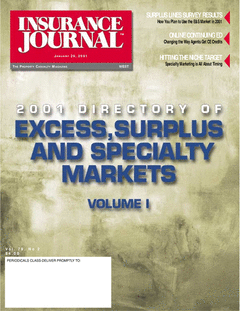 2001 Excess, Surplus and Specialty Markets Directory, Vol. I